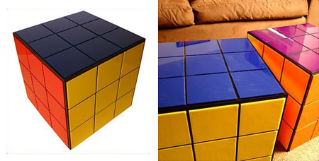 table basse rubik 39 s cube the green geekette. Black Bedroom Furniture Sets. Home Design Ideas