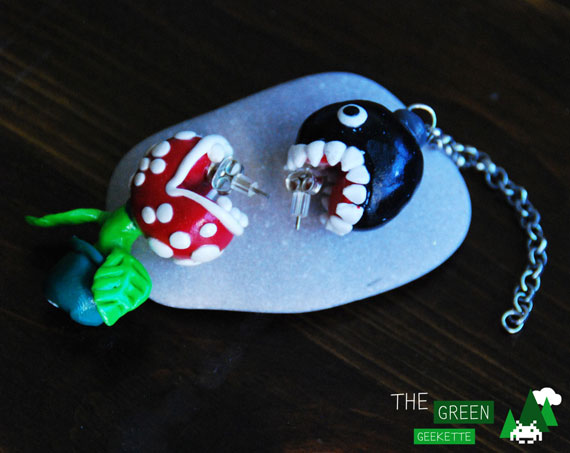 earrings_the-green-geekette_piranha-plant_chain-chomp